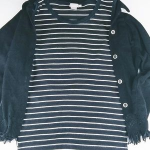 J. Crew Tops - J. Crew Striped Top layering piece for fall/winter